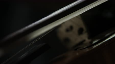 houslista : close up of bow on violin as musician plays in orchestra Dostupné videozáznamy