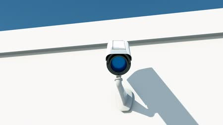 rendszer : security camera on white wall