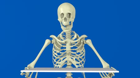csontváz : animated skeleton for your message
