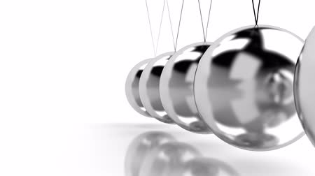 item : hypnotic background with Newtons cradle  Stock Footage