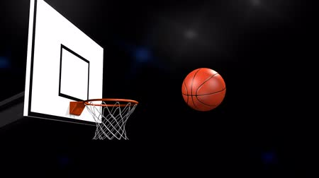 canestro basket : flash nello stadio di basket Filmati Stock