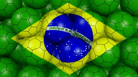 jogador de futebol : slogan for football in Brazil with alpha channel Stock Footage