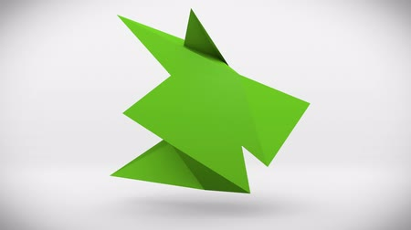 geometric : forms of green paper