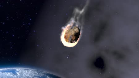 meteorite : incandescent asteroid towards the Earth