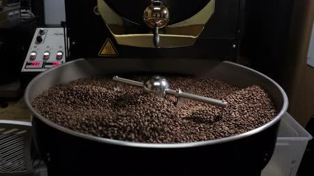 black coffee : Mixed roasted coffee beans Stock Footage