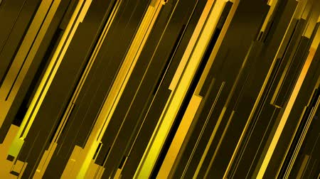 em linha : Abstract 3d gold rectangles and lines background Vídeos
