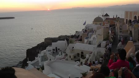 Sunset in Santorini 影像素材