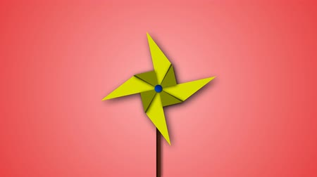 propeller toy : Paper Windmill , paper fan animation for motion graphics, graphics elements.