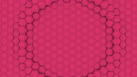 techno : Hexagon Abstract Futuristic Background Seamless Loop Animation, Motion Graphics Element Stock Footage