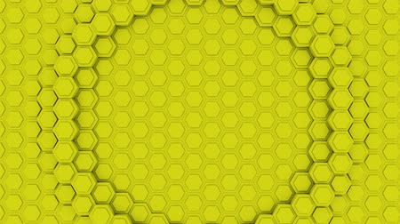 hexagon glow : Hexagon Abstract Futuristic Background Seamless Loop Animation, Motion Graphics Element Stock Footage