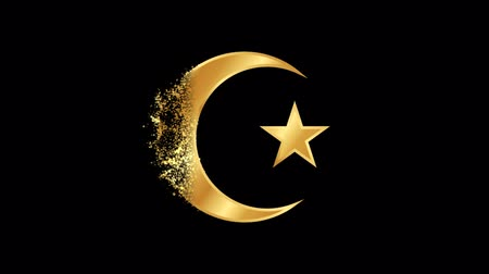 daoism : Islamic  Religious symbol Animation, Particle Animation of Religious Icon Islamic.