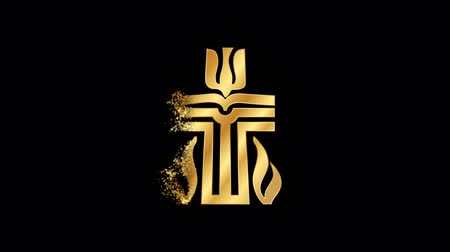 daoism : Presbyterian Religious symbol Animation, Particle Animation of Religious Presbyterian Icon.   Religious sign Presbyterian Animation.