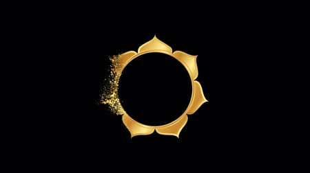 Buddhism lotus Religious symbol Animation, Particle Dust Animation of Religious Buddhism lotus Icon.   Religious sign Buddhism lotus Animation. Particle dust Sign Buddhism lotus. Dostupné videozáznamy