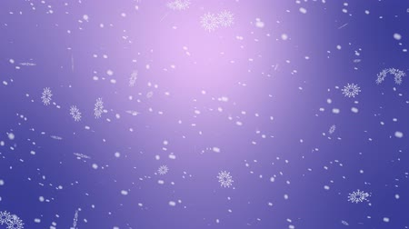 Christmas background with snowflakes - falling snow.  Falling Snowflakes and snow for motion graphics and Christmas Environment.