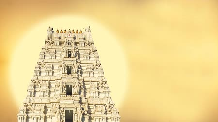 The Tirupati Temple Sunrise motion poster, Tirupati Balaji temple,  digital poster of tirupati balaji temple