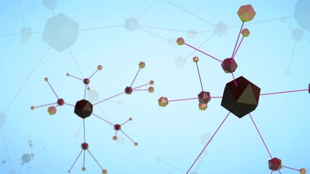 Loop 3d rendered animated science background. Seamless background of connected web network. Stock Footage
