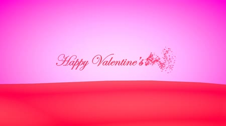 Creatively flying heart from the word Happy Valentines Day.  Romantic Background for Valentines day, Party, wedding etc,