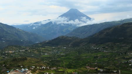 agua : Time lapse over Valle Hermosa with Tungurahua volcano in the background.Ecuador,south America