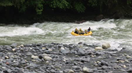 inflammable : Whitewater rafting on Pastaza river, Ecuador Stock Footage