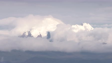 volcanology : time lapse over Cayembe volcano in Ecuador, super telephoto shot
