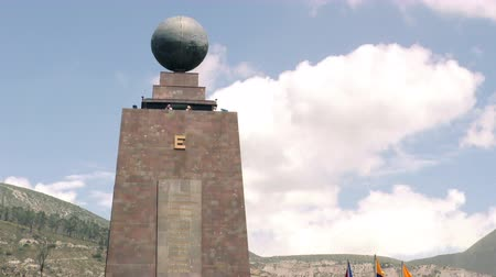 greenwich : QUITO, ECUADOR - 1 APRIL 2015: Group of tourists visiting Center Of The World monument in QUITO on APRIL 1, 2015 Stock Footage