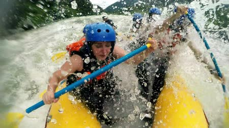 extremo : Rough rafting experience on high level rated river speed ramping shot