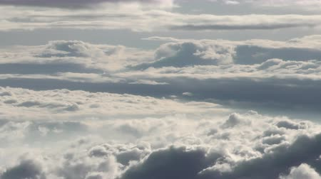 formations : Cloudscape from high altitude in Andes mountains range in Ecuador Stock Footage