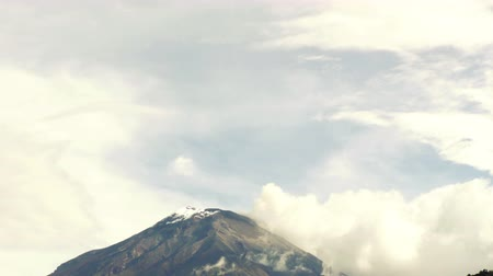 time flow : Tungurahua Volcano In Ecuador South America Real Time Static Footage Stock Footage