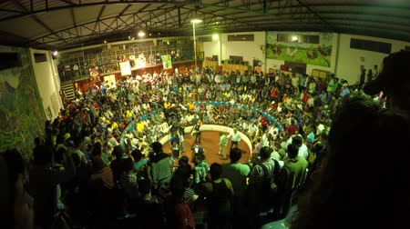cock fights : Banos, Ecuador - 06 February 2016: Legal Cockfight Arena During Annual Championship In Banos On February 06, 2016