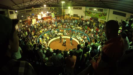 cockfight : Banos, Ecuador - 06 February 2016: Legal Cockfight Arena During Annual Championship In Banos On February 06, 2016