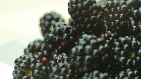 amoras : BlackBerry is rotating in the plate. Stock Footage