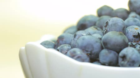 bilberry : blueberries are rotated in the plate.