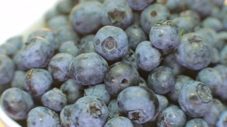detalhado : blueberries are rotated in the plate.