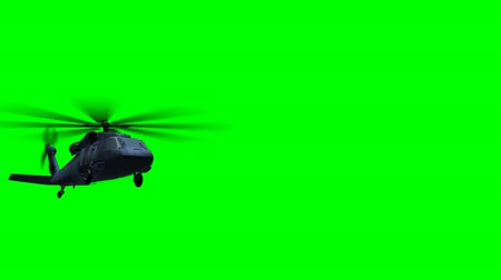 copter : Render of helicopter Black Hawk fly on green screen