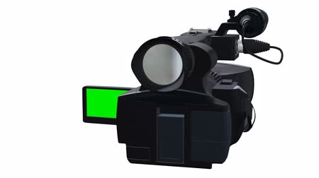 filmagens : 3d abstract render of professional 3D dual-lensed camcorder isolated