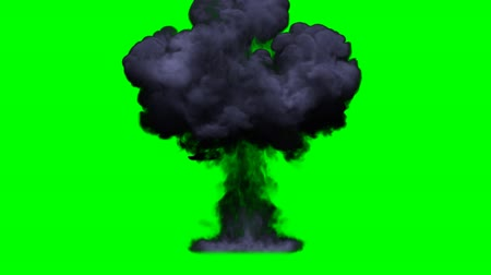 explodir : Render of T-Explosion on green screen Stock Footage