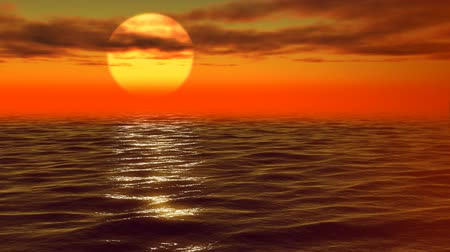 setting : The sun sits down in the gold sea