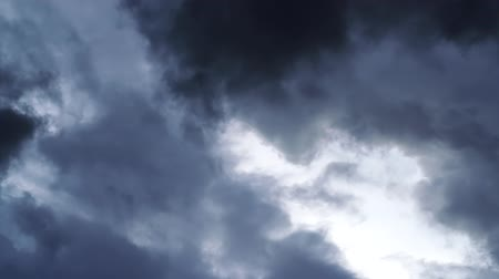 dark rainy cloud moving fast, time-lapse