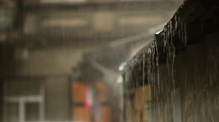 casas : Its raining. He hits the roof. The water is draining. Downpour in the city. Vídeos