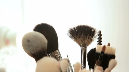 aplikatör : Close up on beauty tools and gadgets ion a beauty saloon