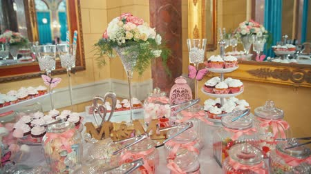 wedding cake : Candy bar design of the restaurant.