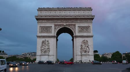 Arc de Triomphe in Paris in the evening, France
