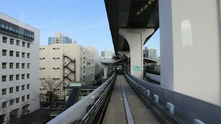 trilho : tour of the city on modern monorail in Tokyo, Japan