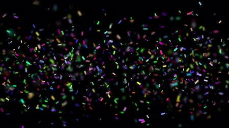 альфа : Falling colorful realistic confetti with alpha channel