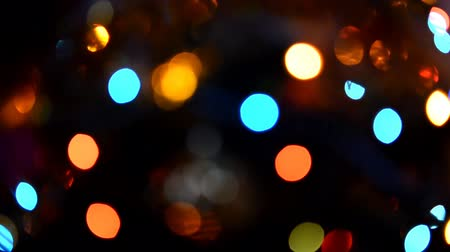 Twinkling lights, abstract garland holiday blurred bokeh Stock Footage