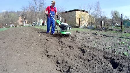 tiller : Cultivates the ground in a garden with a tiller, preparing the soil for sowing