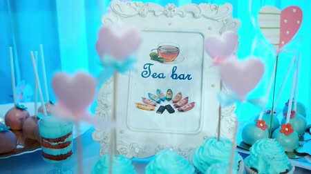 colorful candy : Candy Bar, Wedding Decorations Chocolat Stock Footage