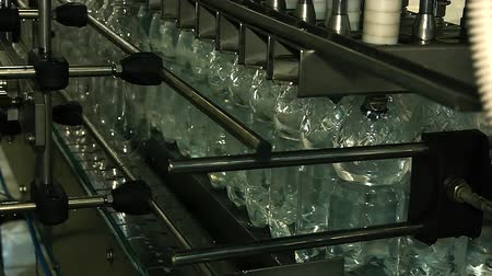 boru hattı : plastic bottles filled with water on the conveyor