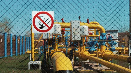 energetyka : Gas installation. Extraction, purification and storage of natural gas and oil. Transportation of natural gas through pipes. Engineering design. Oil and gas industry. The sign of smoking is prohibited. Danger of using fire. Pump station, gas transportation