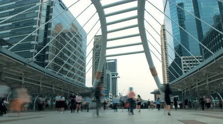 crosswalk : city traffic. busy people go about their business quickly. timelapse Stock Footage